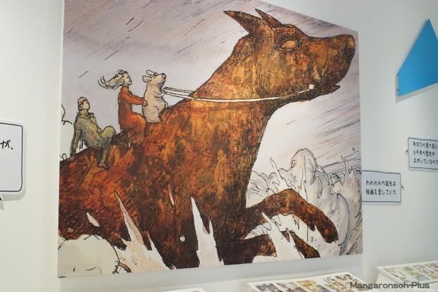 ニコラ・ド・クレシー『氷河期』展示コーナーの壁面には巨大なパネル