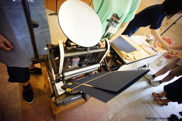 手動式卓上活版印刷機。欲しい!
