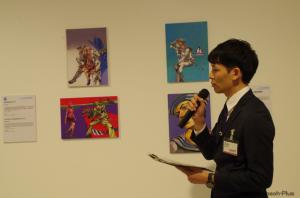 当日、残念ながら伊藤剛さんは欠席のため、文化庁の担当者の方が展示を解説。